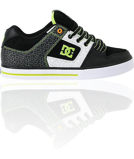 DC Ken Block Pure Black & Soft Lime Print Shoes