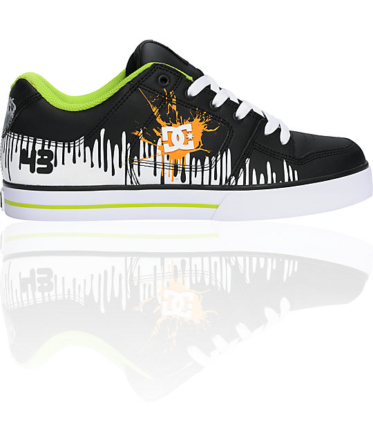 DC Ken Block Pure Black & Soft Lime Shoes