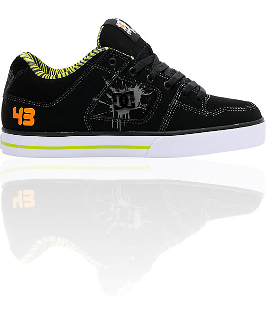 dc ken block pure black shoes. Black Bedroom Furniture Sets. Home Design Ideas