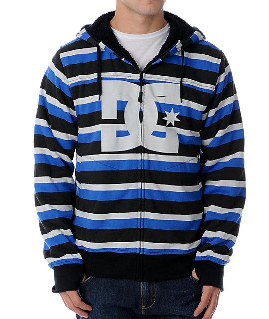 DC Kupress Blue Stripe Tech Fleece Jacket