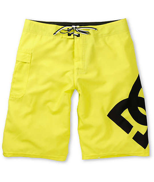 DC Lanai Neon Yellow 22 Board Shorts