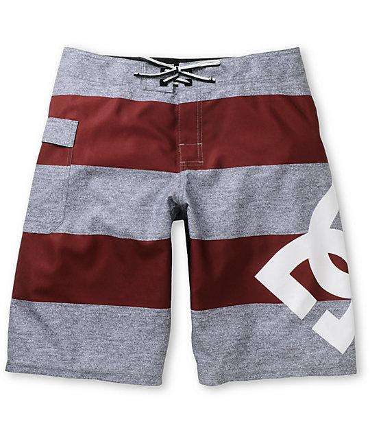 Lanai Stripe Dark Red Board Shorts