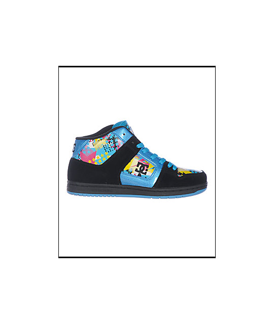 DC Manteca 2 Mid Black & Turquoise Shoes