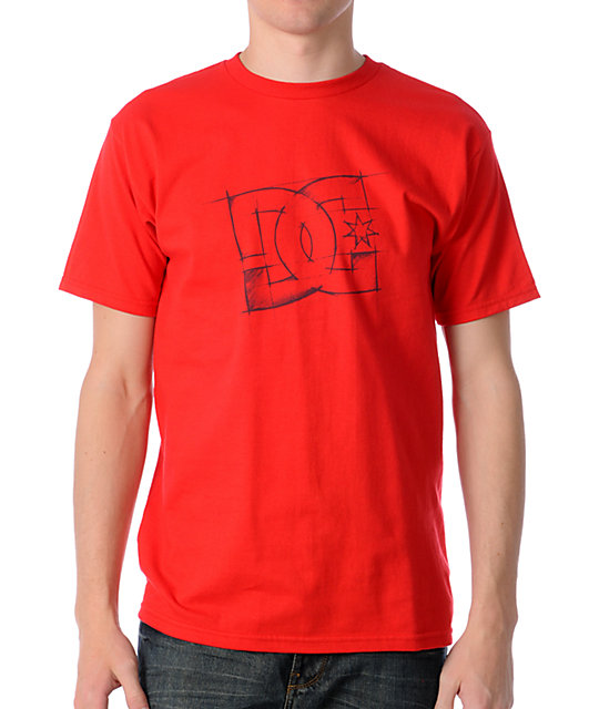DC Mapped Out Red T-Shirt