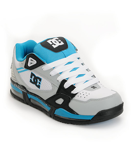 DC Mens Versaflex White, Grey & Blue Shoes