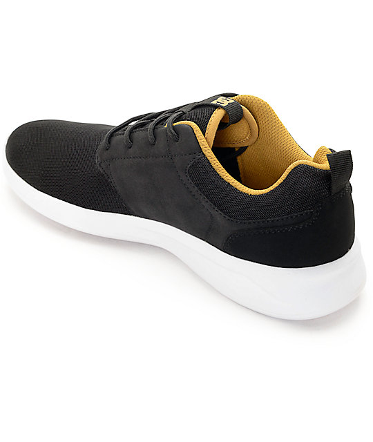 DC Midway Black, White, & Gold Shoes