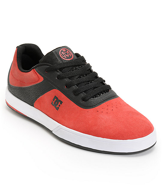 DC Mike Mo S Red & Black Skate Shoes