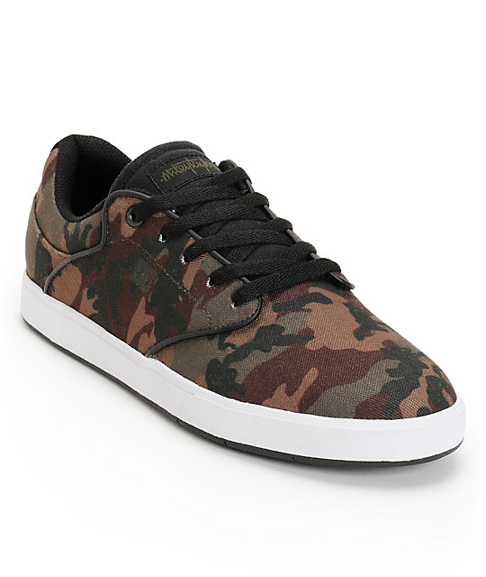 DC Mikey Taylor Pro SE Camo Print & White Canvas Skate Shoes