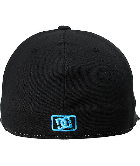 DC Next Level Black & Turquoise Flexfit Hat