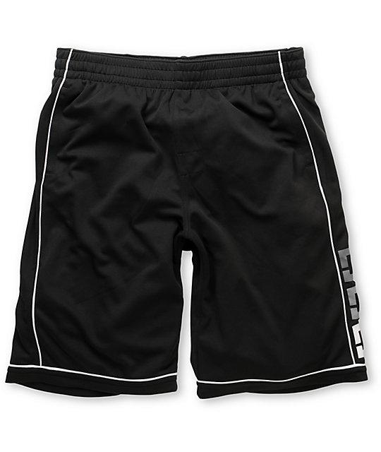 DC Overtime Black Mesh Shorts