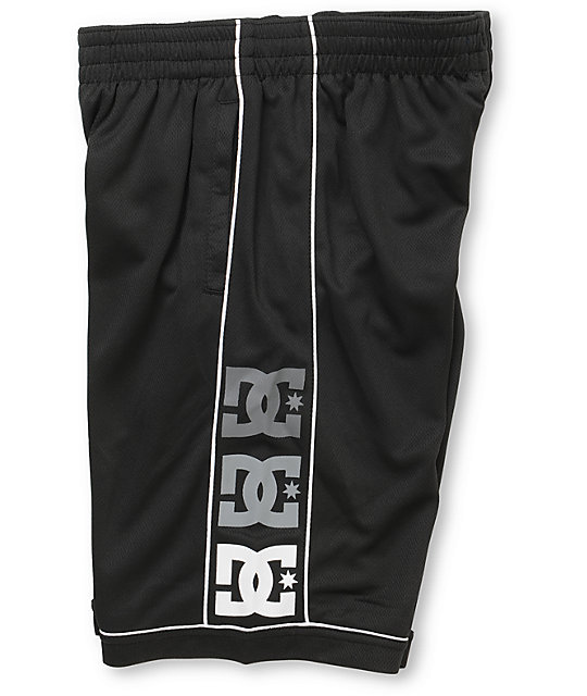 DC Overtime Boys Black Mesh Shorts