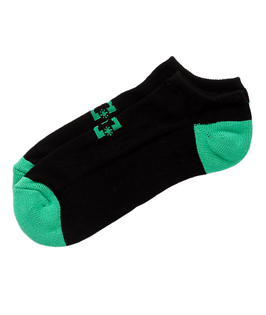 DC Pickup Black & Green Ankle Socks