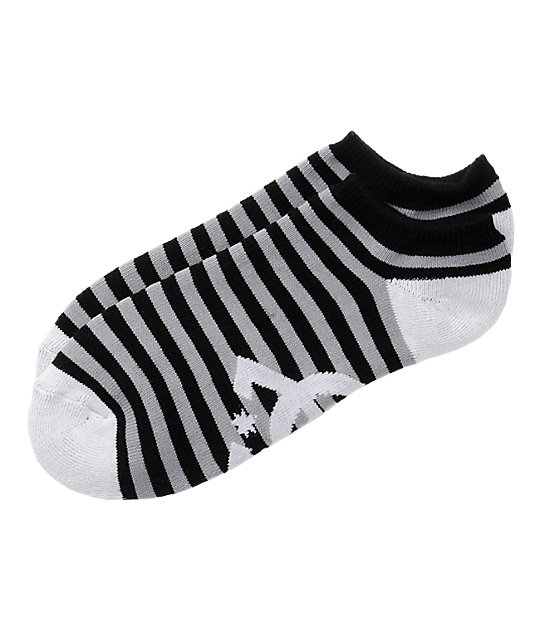 DC Pickup Black & Grey Ankle Socks