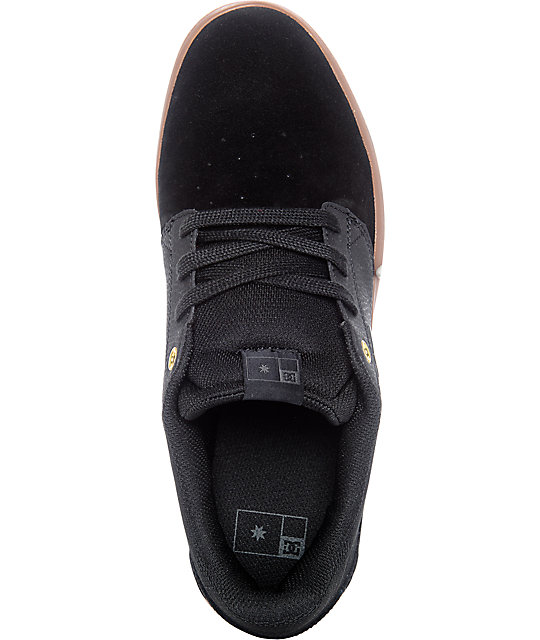DC Plaza TC Black & Gum Skate Shoes