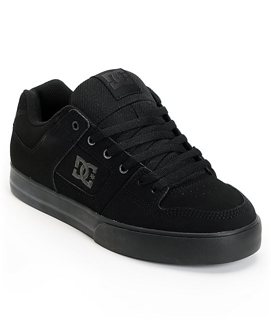 dc all black skate shoe at zumiez pdp
