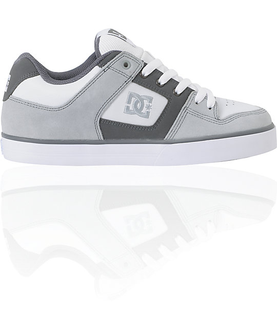 DC Pure Armor, Battleship & White Skate Shoes