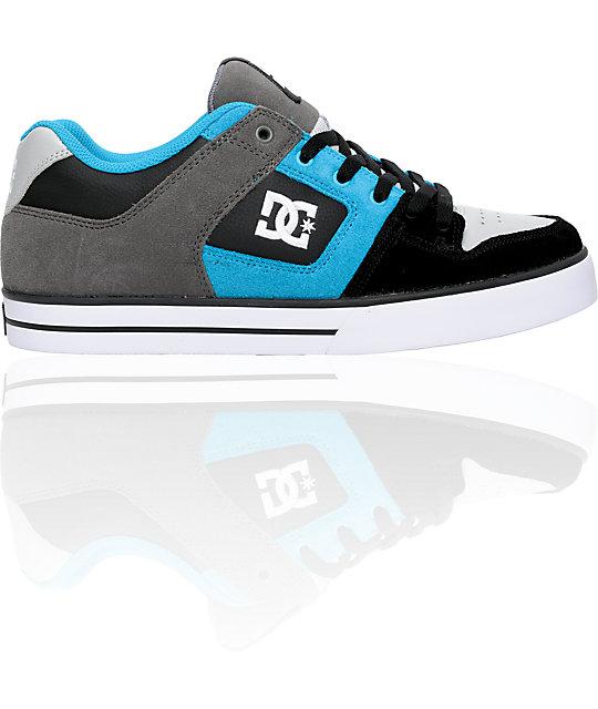 DC Pure Black, Blue & Battleship Shoes