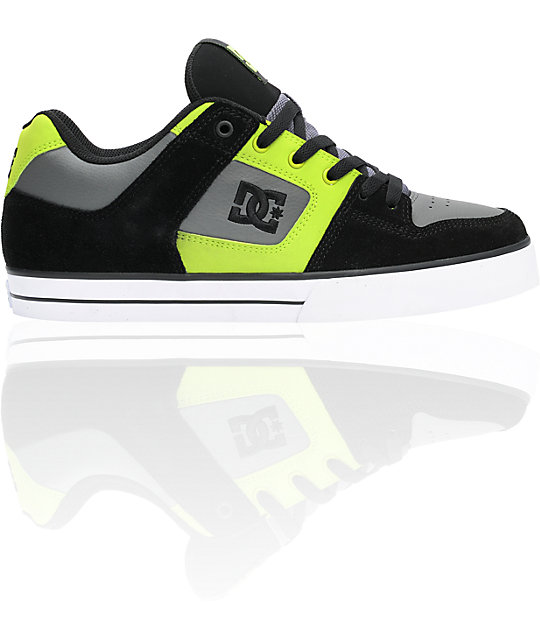 DC Pure Black, Soft Lime & Battleship Shoes