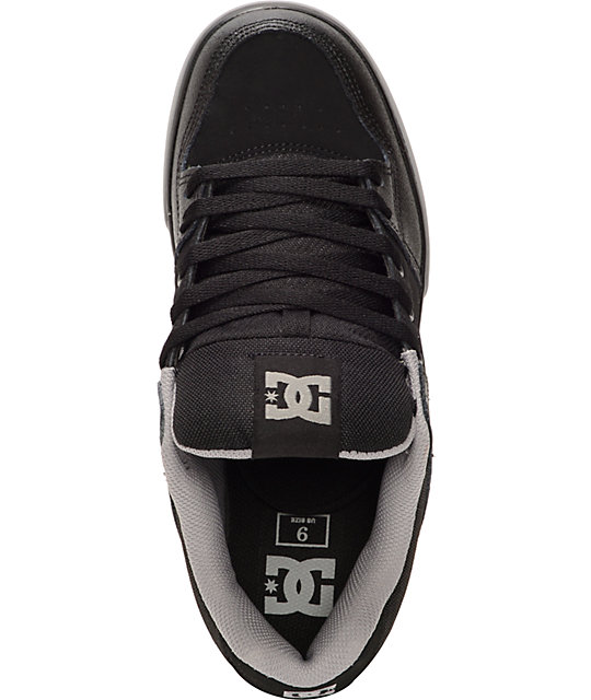 DC Pure Black & Battleship Skate Shoes