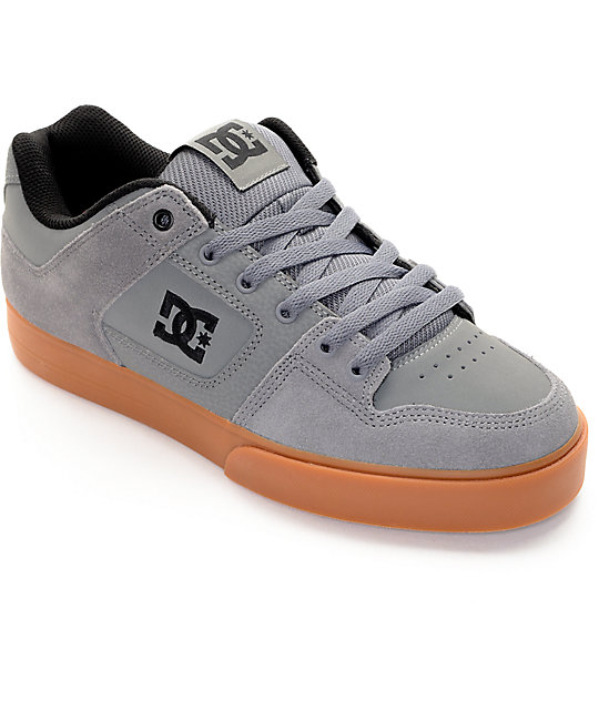 DC Pure Grey & Gum Skate Shoes