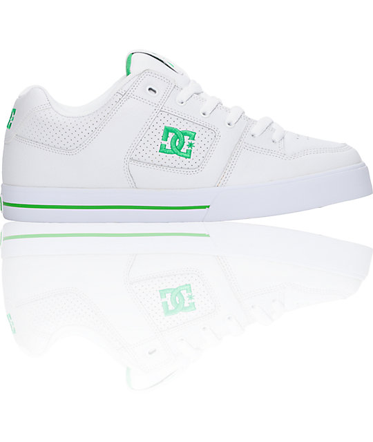 DC Pure White & Emerald Shoes