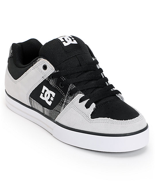 DC Pure XE Grey & Black Skate Shoes