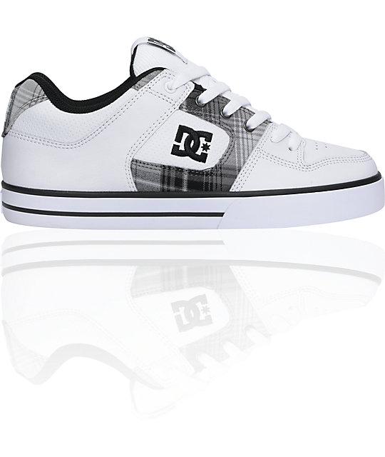 DC Pure XE White & Black Skate Shoes