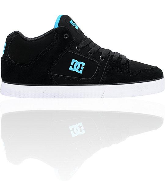 DC Radar Slim Black & Turquoise Shoes