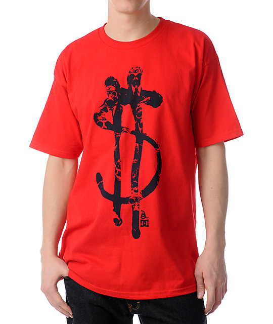 DC Recession Aggression Red T-Shirt