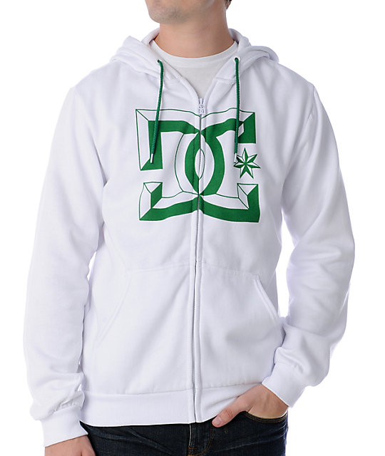 DC Rob Factory White Zip Up Hoodie