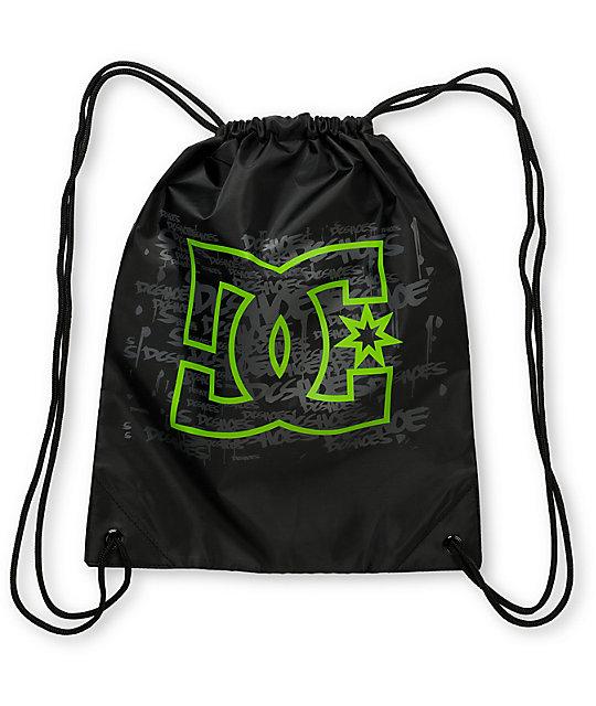 DC Script Keep Gin Away Black Drawstring Bag