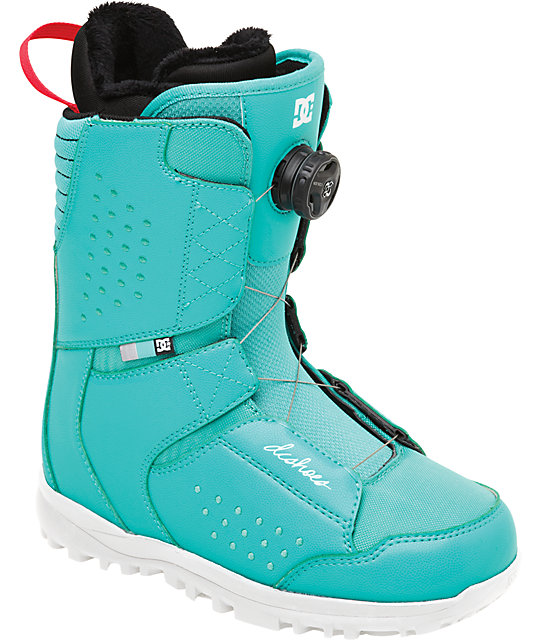 DC Search Teal Womens Snowboard Boots
