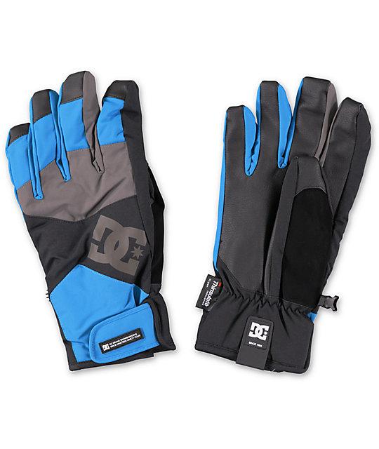 DC Seger Methyl Blue 10K Snowboard Gloves