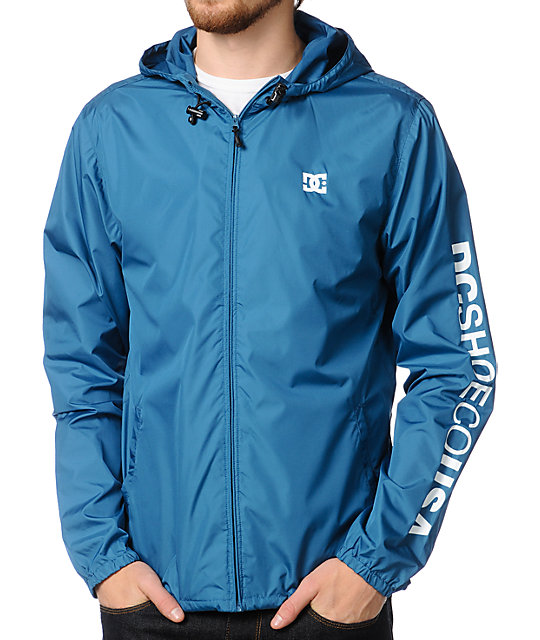 DC Shoes Cambria Blue Windbreaker Jacket | Zumiez