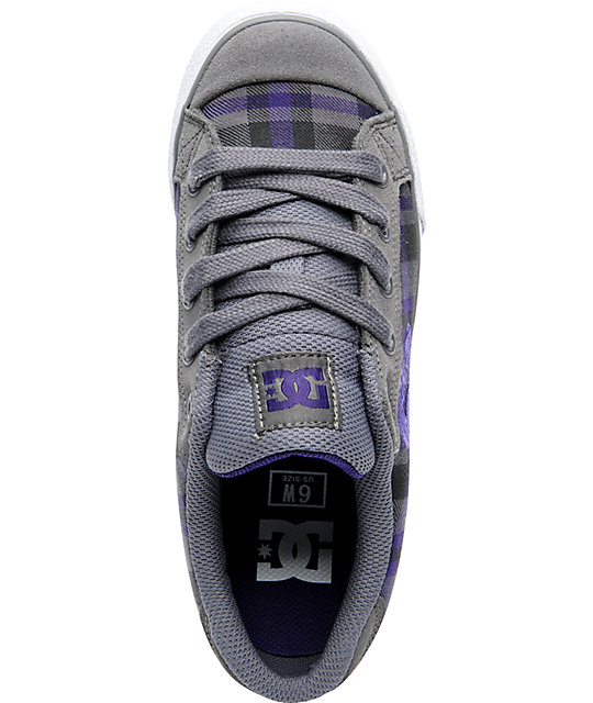 DC Shoes Chelsea Battleship & Velvet Purple Shoes