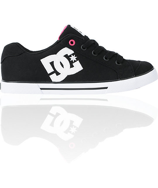 DC Shoes Chelsea TX Black & Pink Shoes