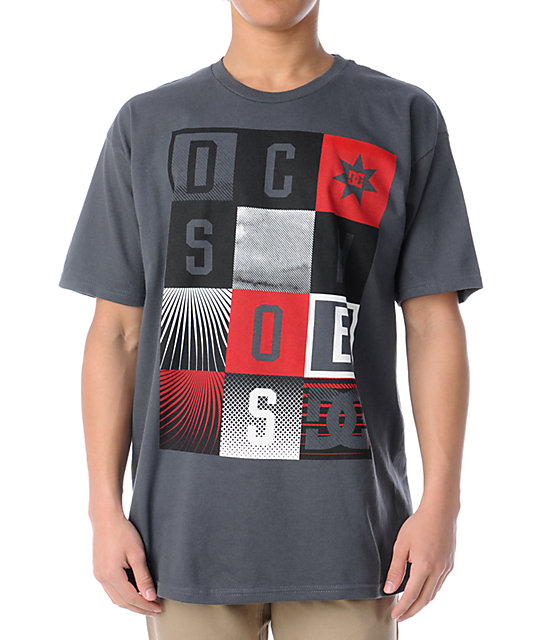 DC Shoes Hollywood Squares Charcoal T-Shirt