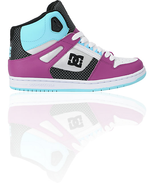 DC Shoes Rebound Hi Ocean Blue & White Shoes