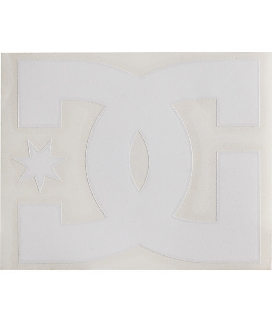 DC Shoes Star White Die Cut Sticker