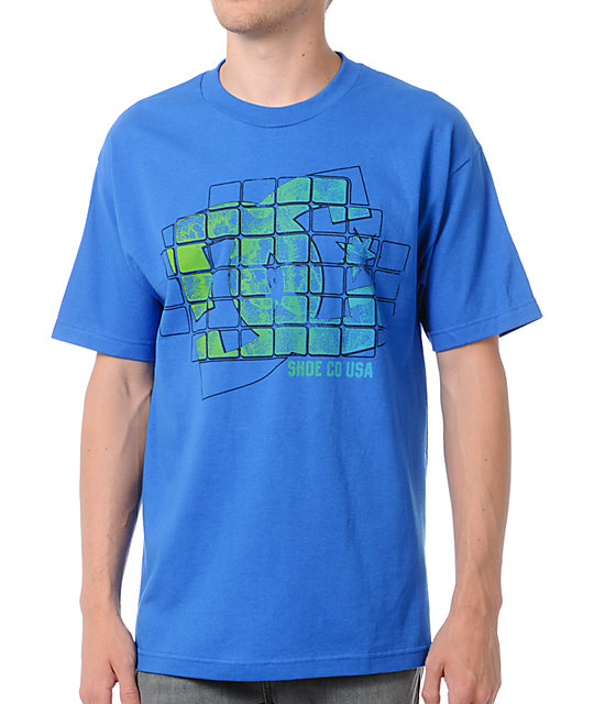 DC Shoes Tetris Blue T-Shirt