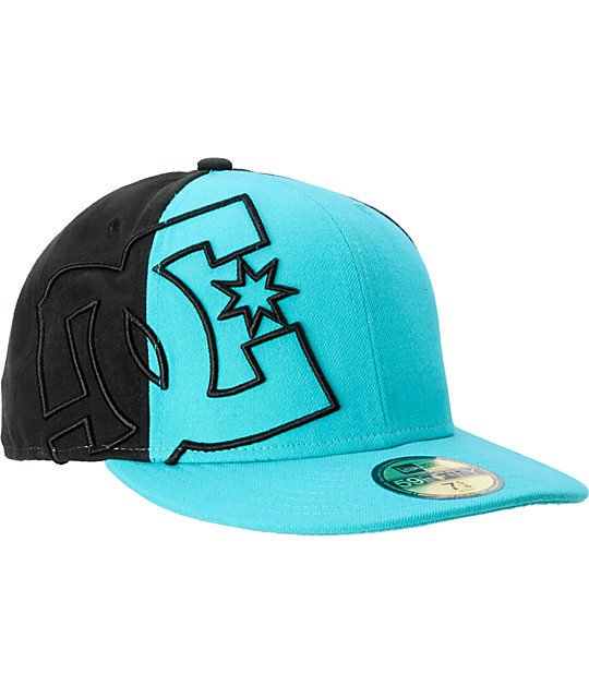 DC Side Swipe Teal New Era Fitted Hat