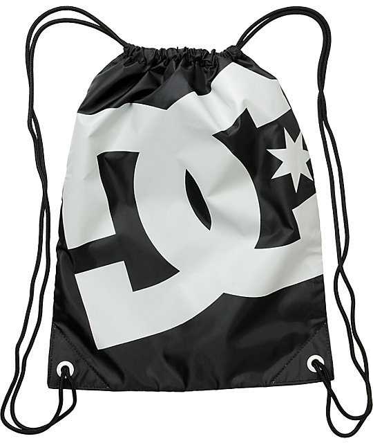 DC Simpki Black Drawstring Bag