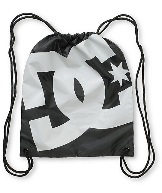 DC Simpski Black & Grey Drawstring Bag