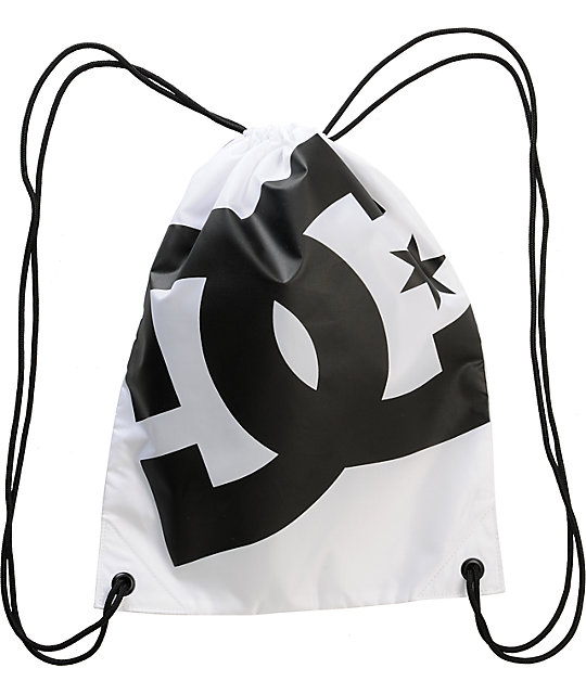 DC Simpski White & Black Drawstring Bag