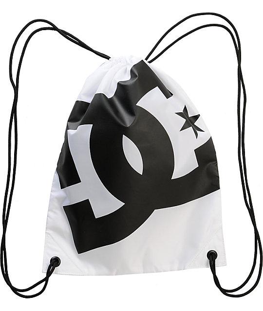 DC Simpski White & Black Drawstring Bag