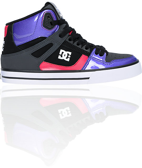 DC Spartan HI Shadow & Purple Shoes