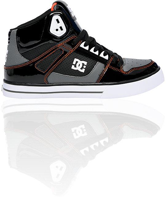 DC Spartan Hi Black & Orange High Top Shoes