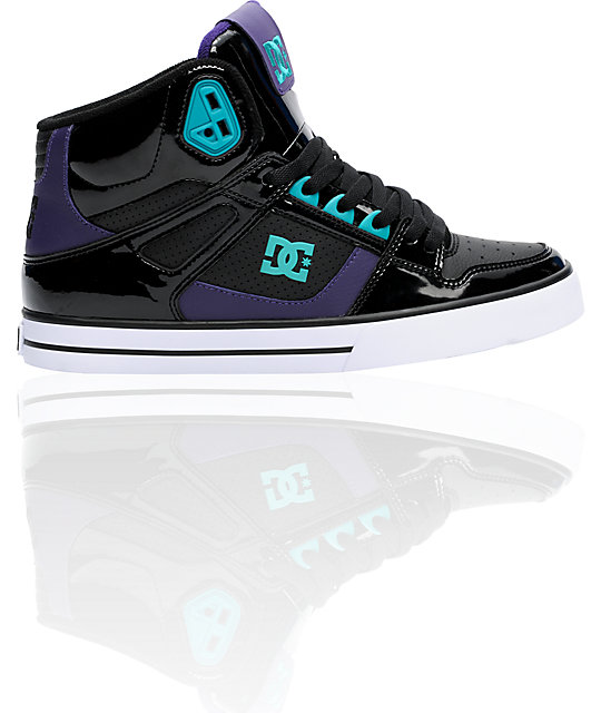 DC Spartan Hi Black & Velvet Purple Shoes