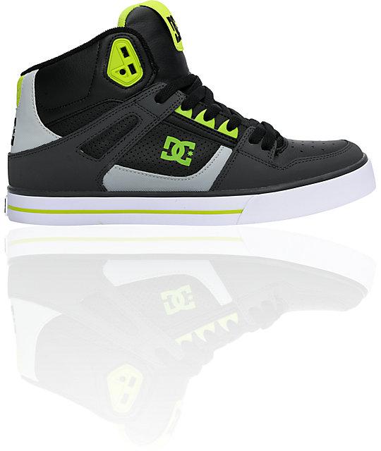 DC Spartan Hi Dark Shadow & Soft Lime Shoes