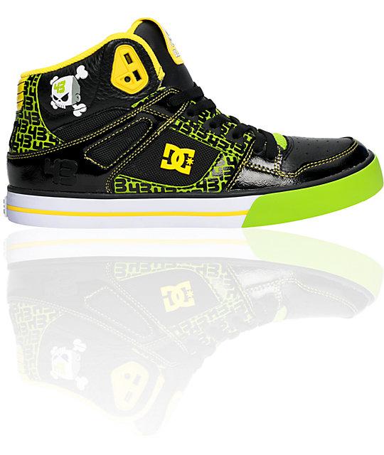 DC Spartan Hi Ken Block Black & Soft Lime Shoes